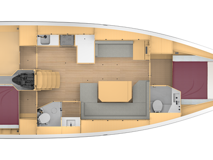 Bavaria C42 Layout 2-2