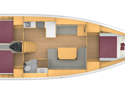 Bavaria C42 Layout 3-1
