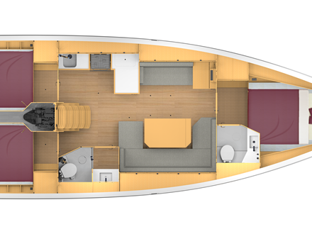 Bavaria C42 Layout 3-2
